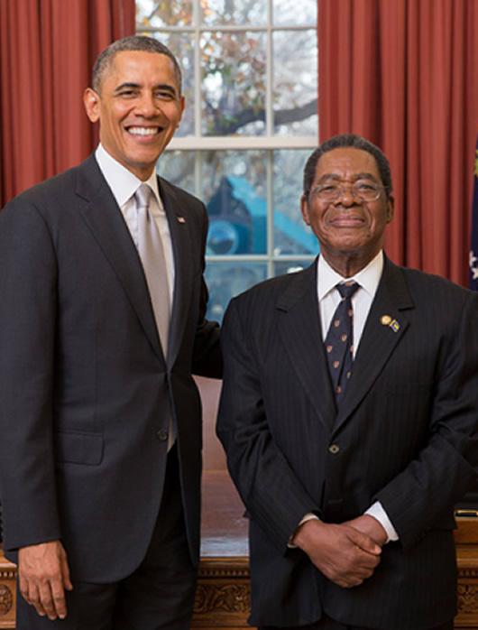 Amb Newry presents credentials to Pres Obama - Dec 2013