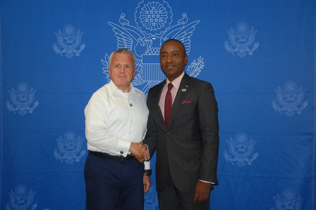Minister Henfield and US Deputy Secretary Sullivan