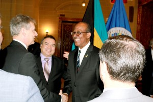 HE Collie with ASG Mendez meets OAS Brazil Permanent Representative