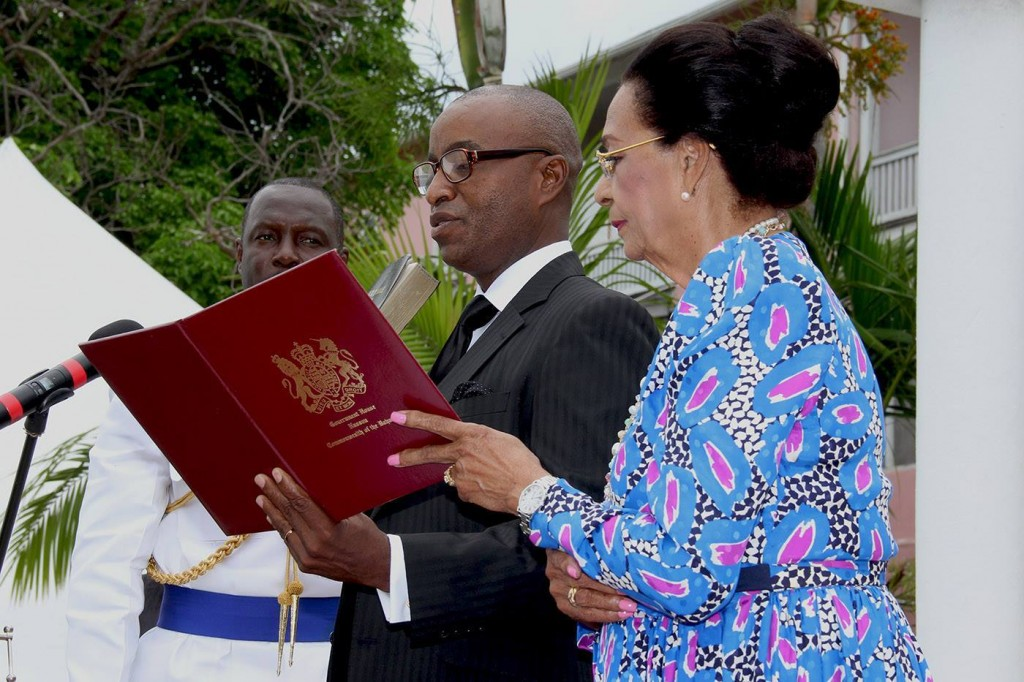 Foreign Minister  Hon. Darren Henfield Sworn Into Office